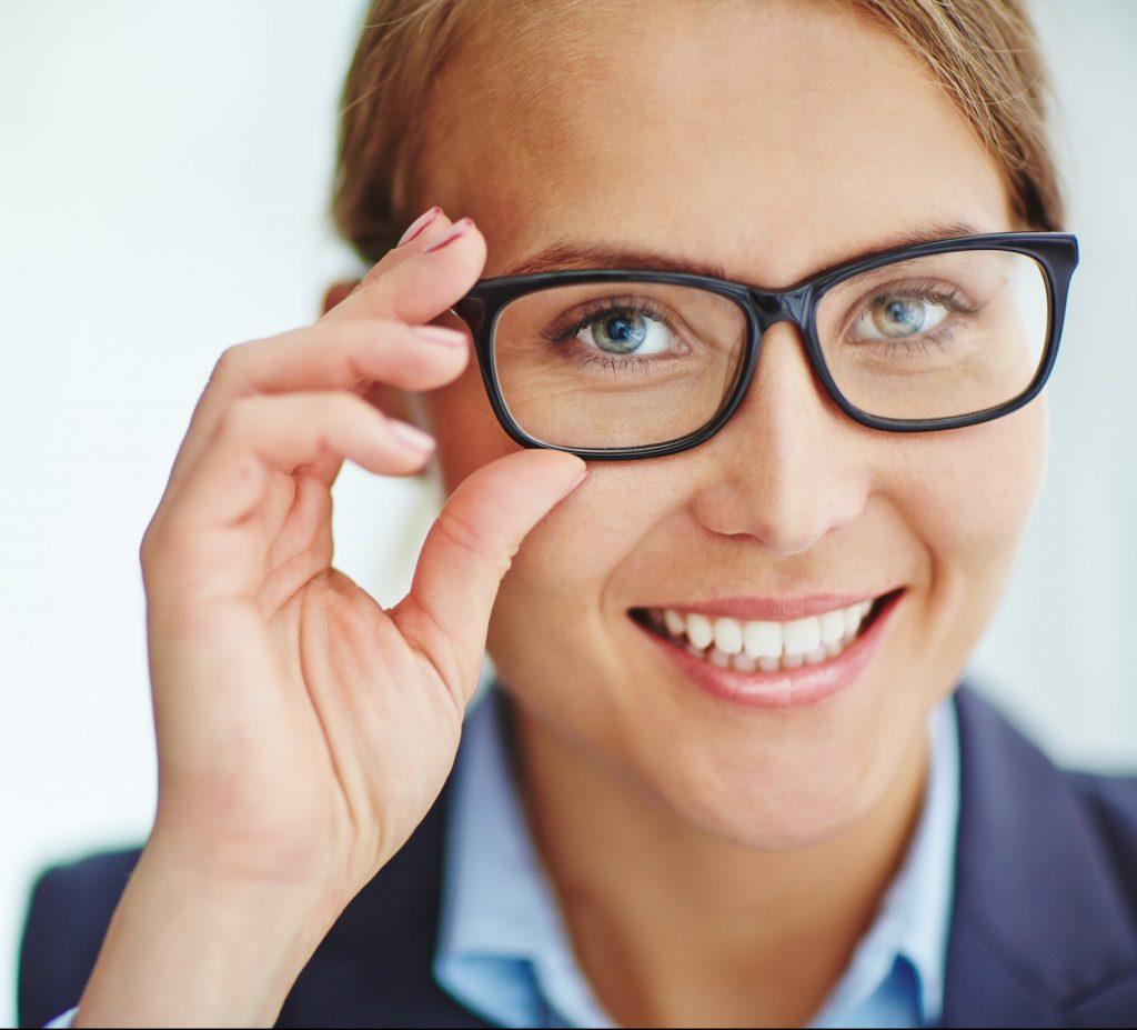 Woman in Milligan Optical Eyeglasses